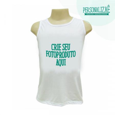 Camiseta Personalizada Regata Branca