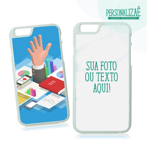 Capa Personalizada Iphone 6 Plus branca