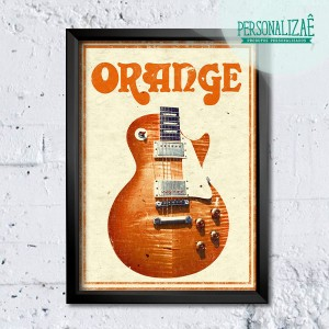 Poster Guitarra Orange